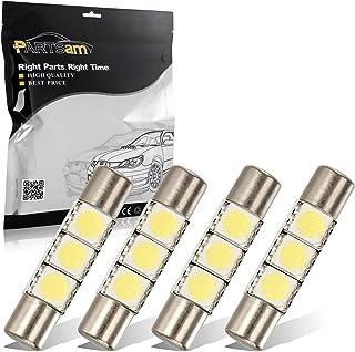 لامپ های LED چراغ آویز Partsam 29mm 6614F برای اتومبیل داخلی Vanity Mirror Lights Sun Visor (4 عدد سفید)