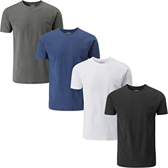 Charles Wilson Confezione da 4 T-Shirt Girocollo da Uomo Elasticizzate in Elastan