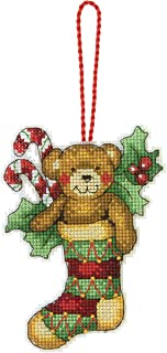 Dimensions Counted Cross Stitch Teddy Bear Ornament Kit, 3.25
