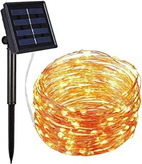 300 LED Solar Strip Light Home Garden Copper Wire Light String Fairy Outdoor Solar Powered Christmas Party Decor Warm white