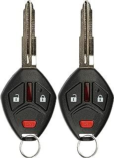 KeylessOption Keyless Entry Remote Sin cortar Llave de encendido del automóvil Fob para Mitsubishi Mirage 2014 2015 2016 (Paquete de 2)