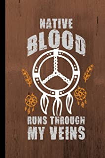 """Native Blood Runs Through My Veins: Engineering Journal Notebook Planner 4x4 Quad Ruled Graph Paper, 100 Pages (6"""" X 9"""") S..."""