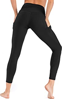 Move With You Womens High Waist Yoga Pants with Pockets Tummy Control Workout Leggings