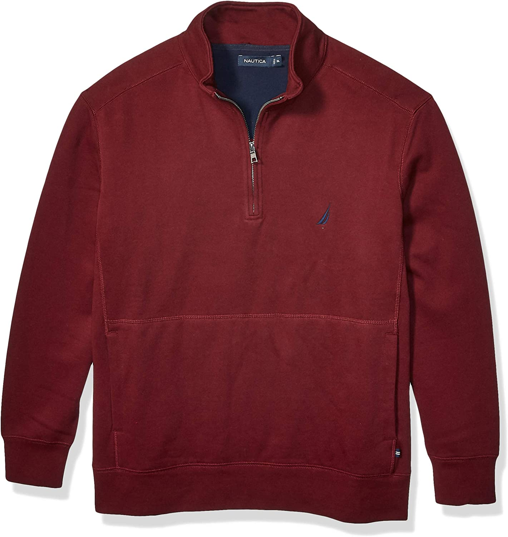 Nautica Men's Big and Tall Quarter-Zip Fleece Pullover