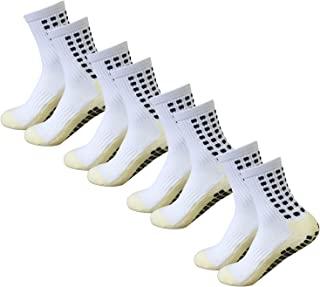 Men's Soccer Socks Anti Slip Non Slip Grip Pads for...