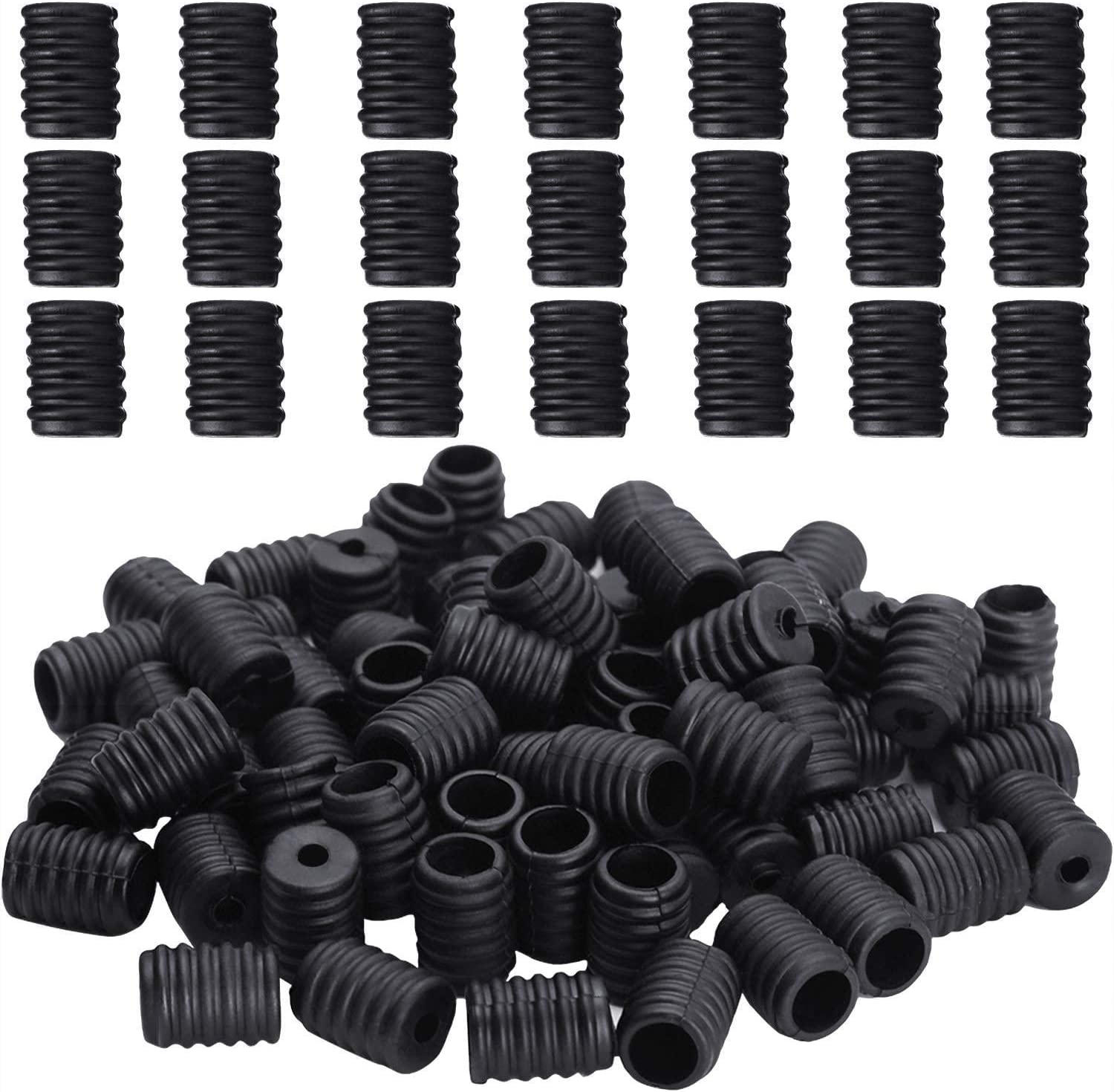 100PCS Elastic Mask Adjustment Buckles Silicone Round Cord Locks Toggles Anti Slip Face Cover Adjuster for Sewing Masks