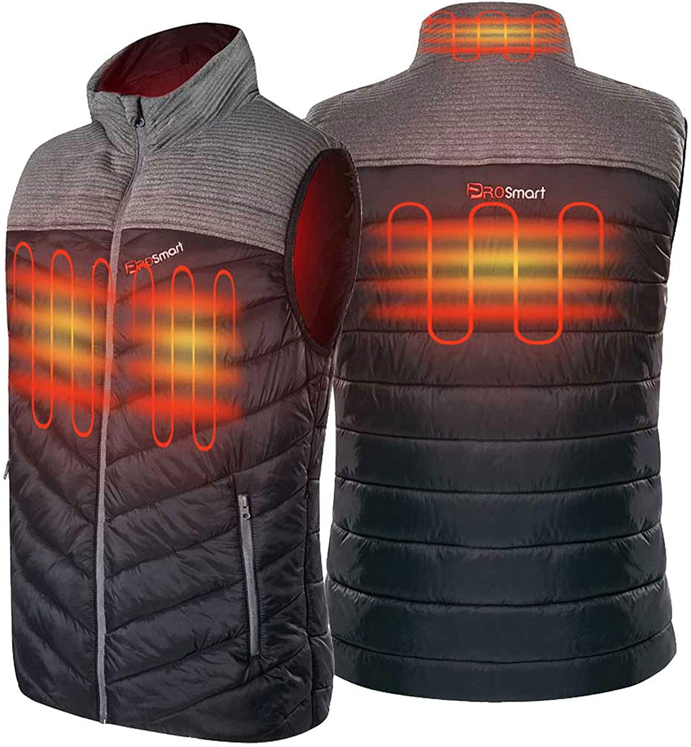 PROSmart Men's Heated Vest Lightweight Electric Heated Vest with Battery Pack
