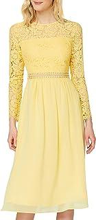 TRUTH & FABLE Amazon-Marke: TRUTH & FABLE Damen Midi A-Linien-Kleid aus Spitze