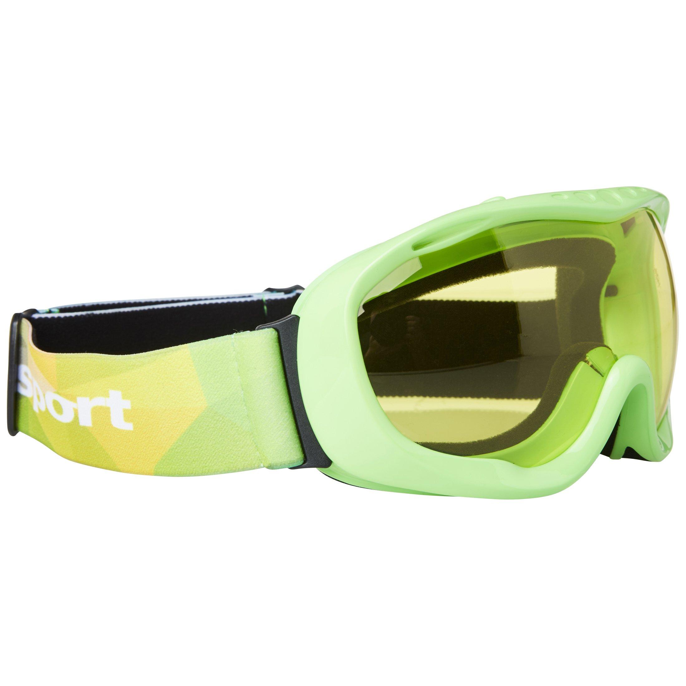 Ultrasport Skibrille / Snowboardbrille mit Antibeschlag-Scheibe, grün/gelb
