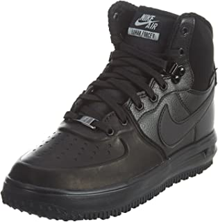 NIKE Kid's Lunar Force 1 Sneaker Boot, Black/Metallic Silver