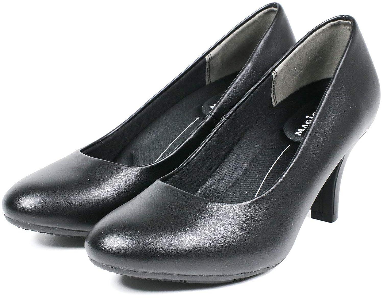 [セレブル] (マジカルステップス) MAGICAL STEPS パンプス 歩きやすい 幅広 3E 外反母趾 美脚 リクルート ラウンドトゥ