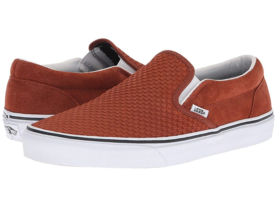 Vans Classic Slip-Ontm ((Embossed Suede) Sequoia/True White) Skate Shoes