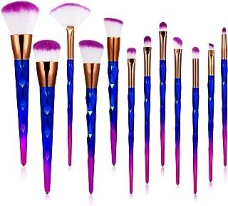 Makeup Brushes, 12Pcs Premium Synthetic Foundation Eyeshadow Eyeliner Blush Brush Set Cosmetics Makeup Brushes Set with Black Bag