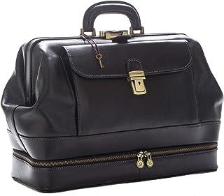 D&D - Doctor's Bag Borsa Medico stile classico con vano Portastrumenti - Made in Italy (Nero)