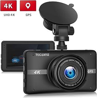 TOGUARD Cámara de Coche 4K Ultra HD con GPS Dash Cam 3 LCD Grande Ángulo de 170° Cámara para Coche con Monitor de Estacionamiento Grabación en Bucle Sensor G NO WIFI