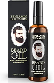 Beard Oil - Beard Grooming Conditioner Oil for Men by Benjamin Bernard - Encourage Healthy Beard Growth, Well-Groomed Styl...