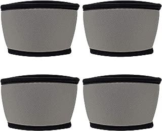 TahoeBay Coffee Cup Sleeves - 12, 16, and 20 oz Starbucks Compatible Reusable Neoprene Insulator (Silver, 4)