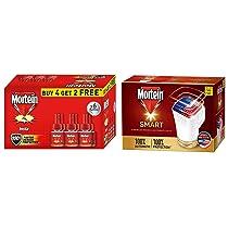 Mortein Smart Device with 45ml Refill + Mortein Liquid Vaporiser 45 ml Reffil (4+2 free) Pack