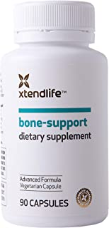 Xtend-Life Bone Support Supplement with Plant-Based Marine Calcium, Vitamin C, D3, K2, & Magnesium - Highly Absorbable, Ad...
