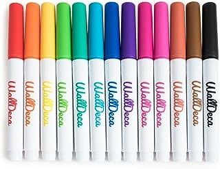 WallDeca Low-Odor Dry Erase Markers, Fine Tip, Assorted 13 Colors, Whiteboard Marker Pens Erasable Calendar (Standard Kit)