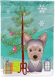 Caroline's Treasures BB1604GF Christmas Tree and Yorkie Puppy Garden Flag, Small, Multicolor