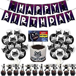 NOA Cartoon Kat Party Decoraties Set Horror Game Karakter Thema Gelukkige Verjaardag Feestbenodigdheden Met Banner Zwart W...