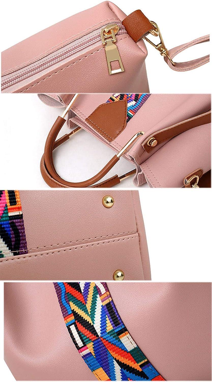 Mode 4 PCs/Set Rubans Femmes Sac PU épaule en Cuir Sacs bandoulière Grande capacité Casual Sac fourre-Tout en Composite White