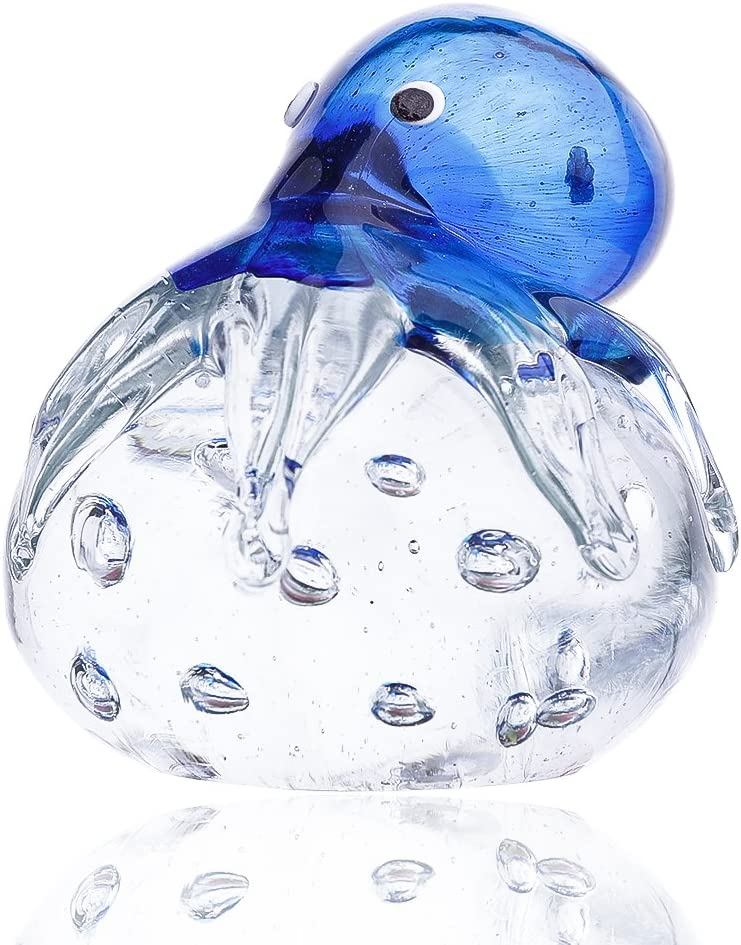 Handmade Blown Octopus Art Low price Glass Super sale period limited Home Sea Animal Decor Figurine