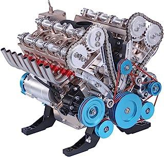 Maquette Moteur avec 8-Cylindres - Modèle de Moteur Miniature en Métal Moteur Voiture - 500 pièces
