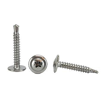 "Details about  /#8 x 1-3//4/"" Phillips Pan Head Self-Drilling Sheet Metal Screws 410 SST 250 pcs"