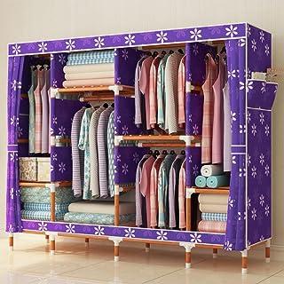 LyMei Armoire de Rangement, Rangement en Bois de Garde-Robe d'Oxford Rangement d'organisateur de Tissu de Tissu Pliage de ...