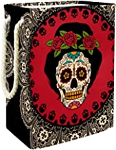 Laundry Bag Frame with Mexican Skull Woman Large Storage Bin Storage Basket Clothes Laundry Hamper Toy Storage Bin