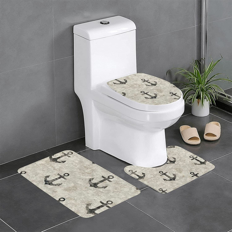 York Wallcoverings 3 Piece Bathroom mat Bath Bathtub Set Carpet Industry No. Limited time cheap sale 1