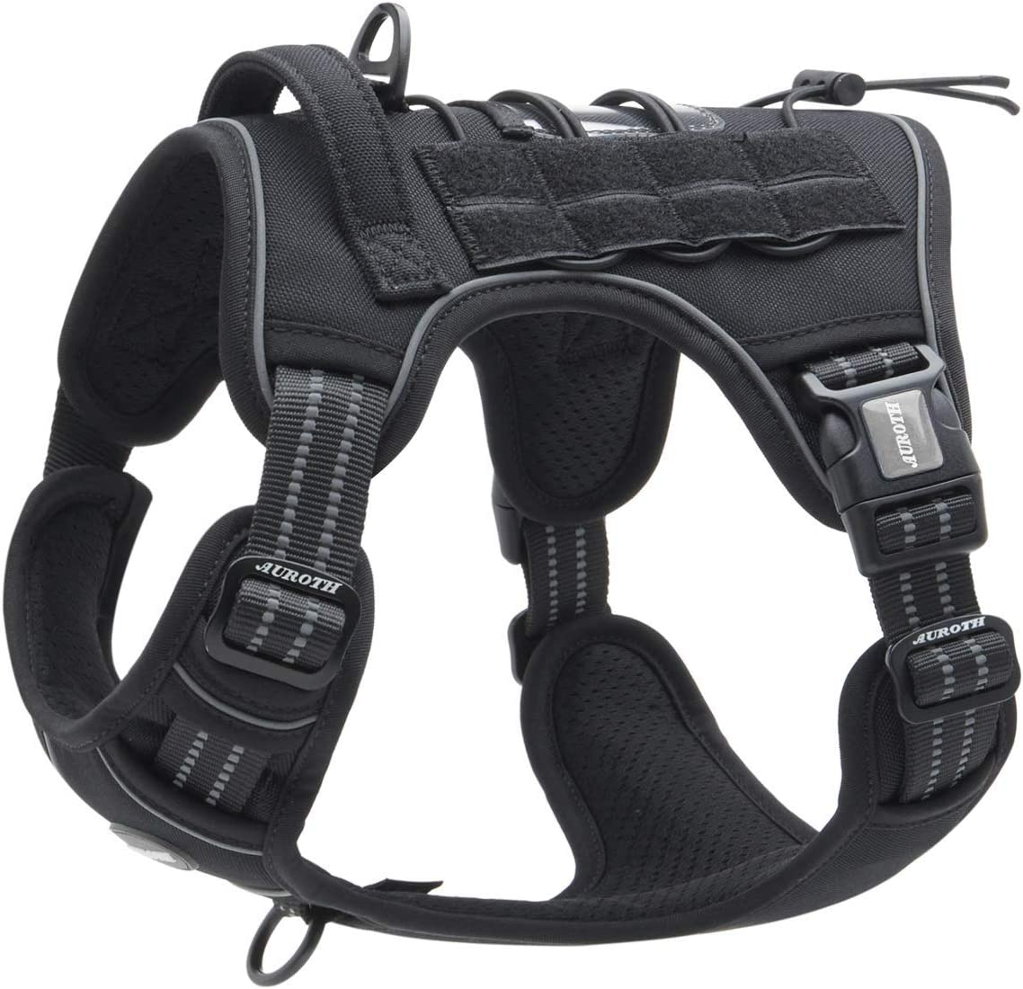 Auroth New Shipping Free Shipping Tactical Dog Harness for Small Large Pull Dogs No Max 45% OFF Medium