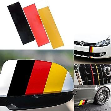 "10/"" x 6/'/' DIY German Flag Color Strip Decal Sticker Car Exterior Interior Decor"