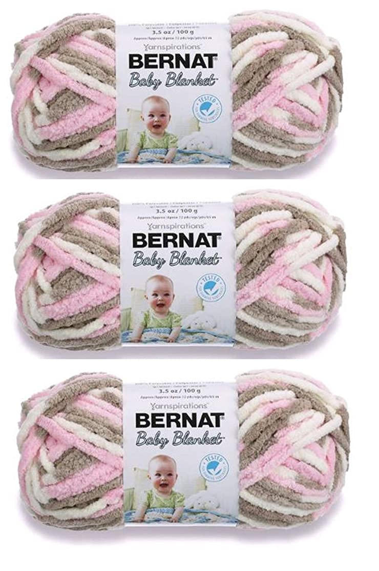 Bulk Buy: Bernat Baby Blanket Yarn (3-Pack) Little Petunias 161103-3421