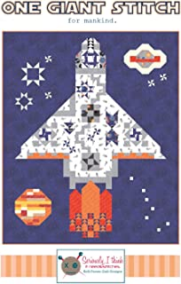 """One Giant Stitch Spaceship Quilt Pattern by Kelli Fannin Quilt Designs from Seriously I Think it Needs Stitches KFQP141-58"""" x 70"""""""