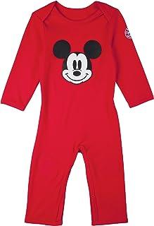 FC Bayern München Baby Strampler Disney Mickey Mouse, Babystrampler, Strampler, Gr. 74