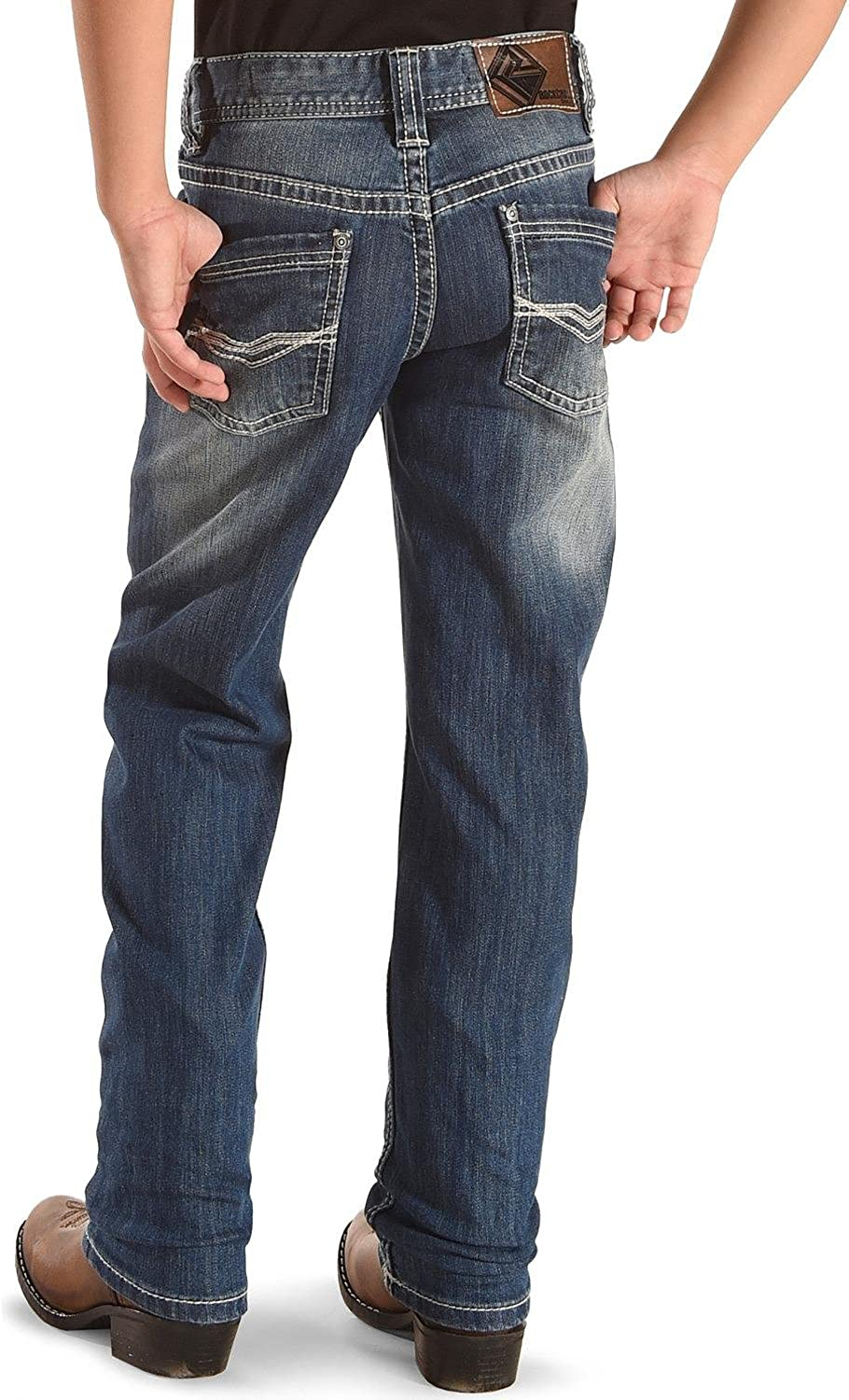 Rock Roll Cowboy Award Boys' and Reflex Revolver Jeans Boot V 4-20 New Free Shipping