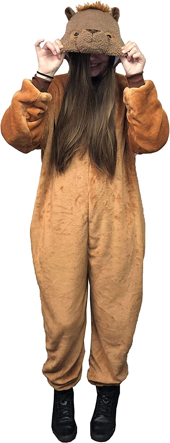 Jammies For Parties Animal Pajamas for Adult Unisex Cosplay Costume Plush One Piece