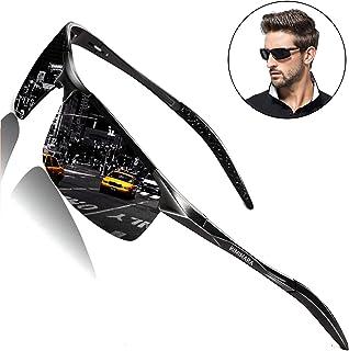 Kimimara 偏光サングラス 変色調光レンズ サングラス 運転 軽量 UV400 紫外線カット 釣り サイクリング スポーツ テニス 自転車 登山 ゴルフ アウトドアグラス メンズ ケース付き