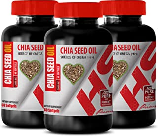 chia Seed Capsules for Weight Loss - Essential Fatty acids Omega 3-6-9 - CHIA Seed Oil 2000 - Alpha linolenic Acid Omega 3...
