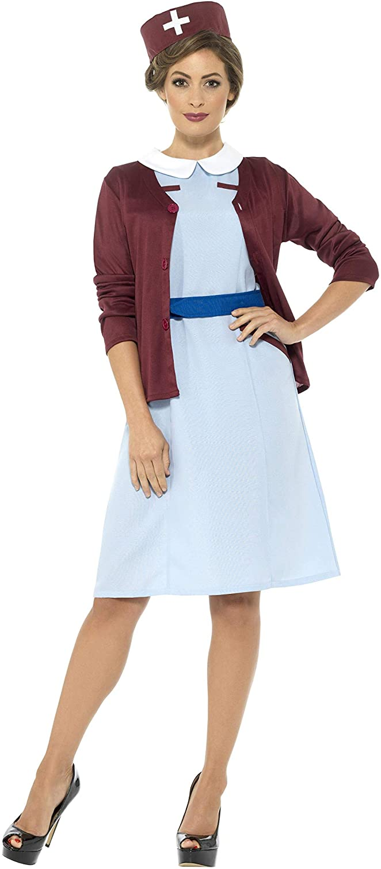Smiffys Damen Vintage Krankenschwester Kostüm, Kleid, Cardigan, Gürtel und Hut, Größe  44-46, 42796 B06X9CTC1T Mangelware  | Up-to-date Styling
