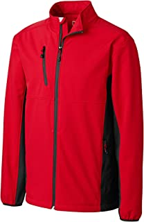 Clique Men's Narvik Colorblock Softshell Jacket, Red/Black, 5X-Large