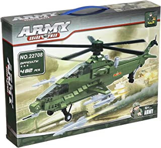 Ausini Army Guard Max War Airplane Construction Toy For Kids, 482 Pieces - Multi Color