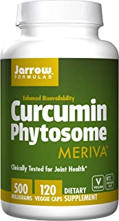 Jarrow Formulas Curcumin Phytosome (Meriva), Clinically Tested for Joint Health, 500 mg, 120 Veggie Caps