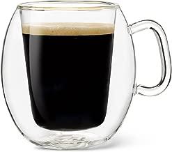 Luigi Bormioli Thermic Suprimo Coffee Mug, 10-1/4-Ounce, Set of 2