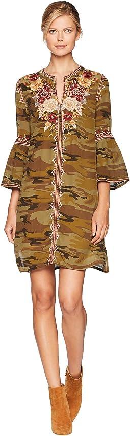 Artemis Flare Sleeve Tunic Dress