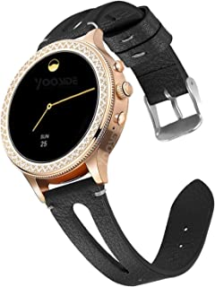 YOOSIDE for Fossil Q Venture Leather Watch Band,18mm Quick Release Classics Soft Matte Leather Watch Band Strap for Ticwat...