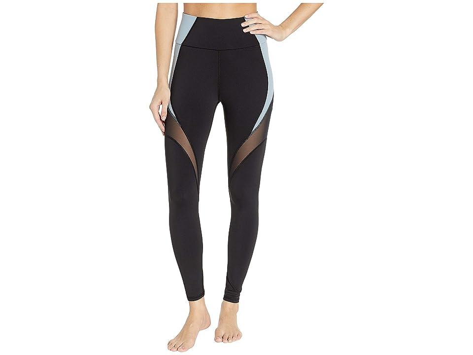 MICHI Glow High-Waisted Leggings (Black/Sky) Women